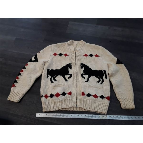 Authentic Wool Cowichan Style Sweater