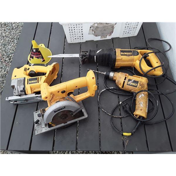 Dewalt Sawsall, Drill Corded, Jigsaw and Cutting Saw