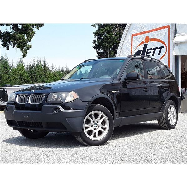 D2 --  2004 BMW X3 2.5I AWD , Black , 215595  KM's