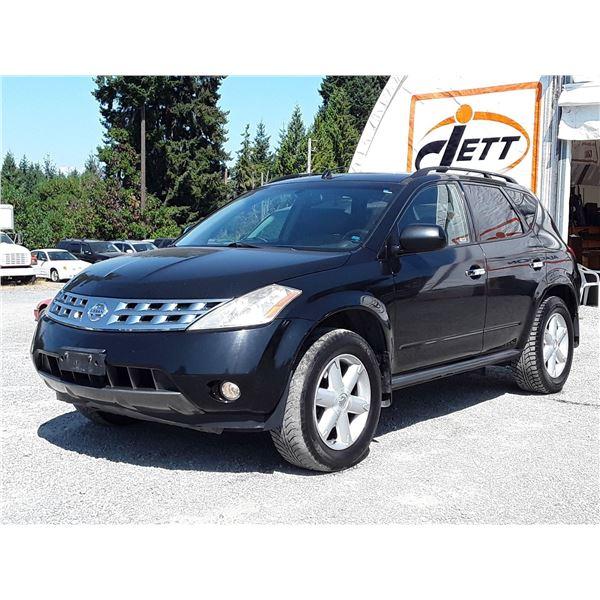 D4 --  2004 NISSAN MURANO SE AWD , Black , 203432  KM's