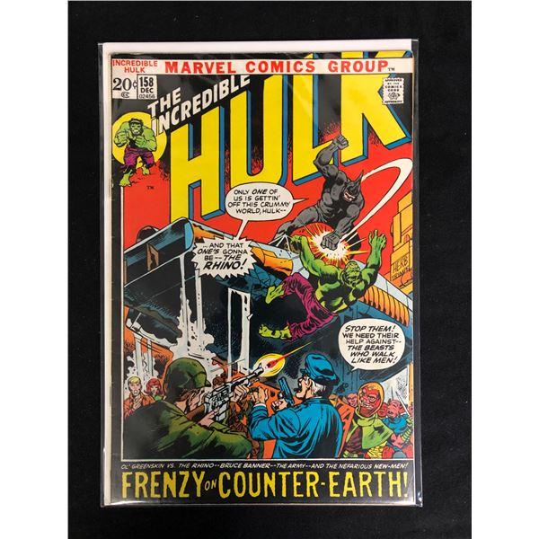 THE INCREDIBLE HULK #158 (MARVEL COMICS)