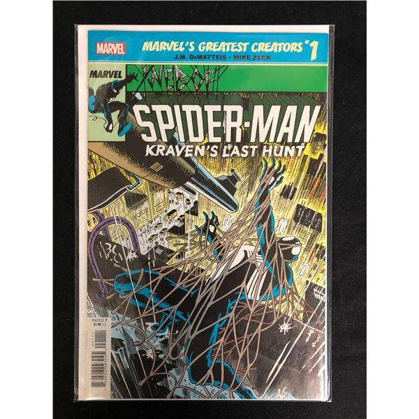 MARVEL'S GREATEST CREATORS #1 SPIDER-MAN Kraven's Last Hunt  (MARVEL COMICS)