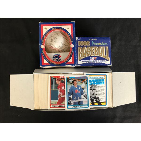 BASEBALL/ HOCKEY TRADING CARDS