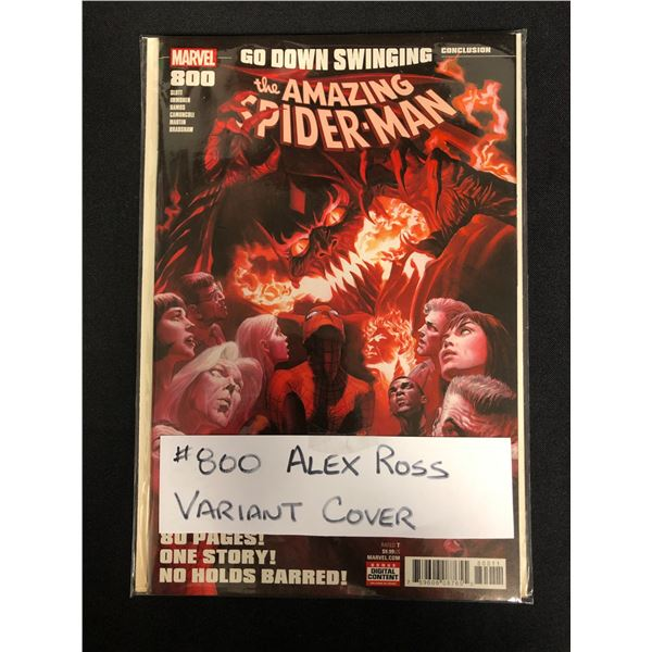 THE AMAZING SPIDER-MAN #800 (MARVEL COMICS) Alex Ross Variant Cover