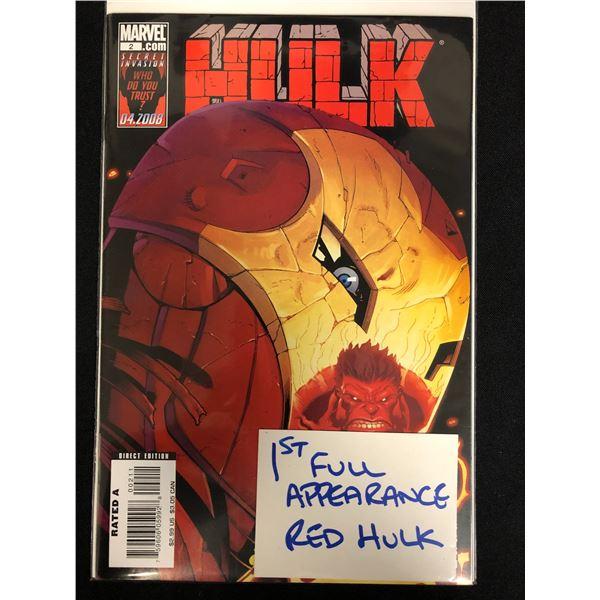 HULK #2 (MARVEL) 1st Full App. Red Hulk