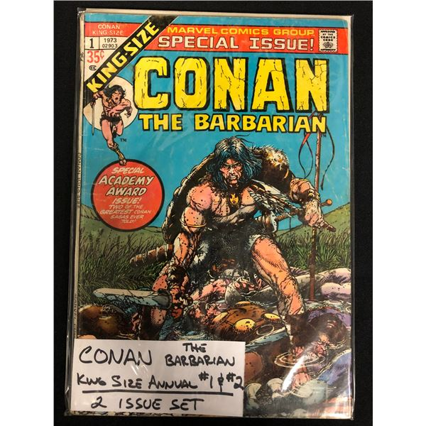 CONAN THE BARBARIAN #1-2 (KING-SIZE ANNUAL! 2 ISSUE SET)