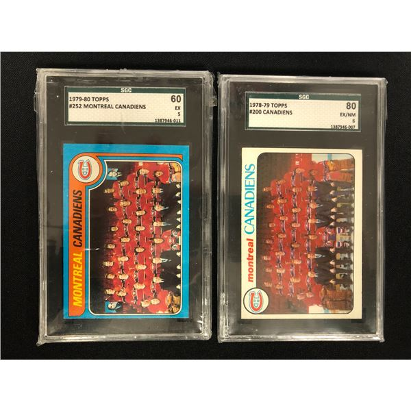 LATE 1970s MONTREAL CANADIENS GRADED TEAM CARDS LOT