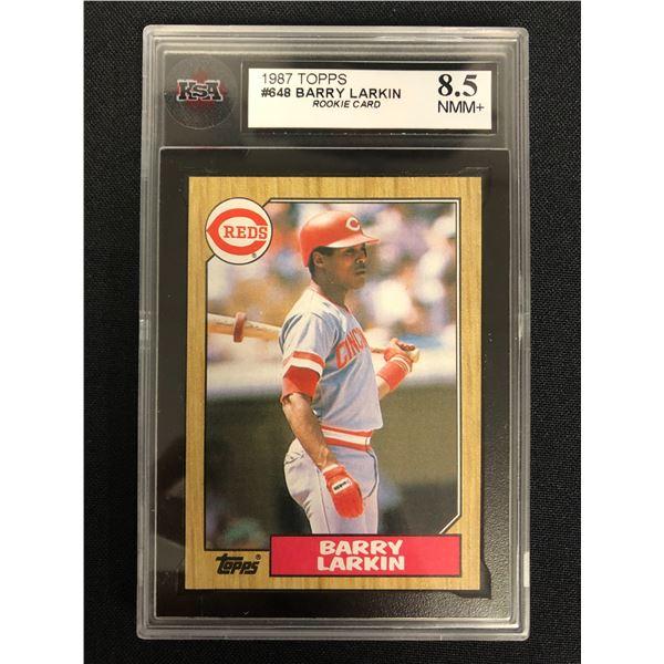 1987 TOPPS #648 BARRY LARKIN Rookie Card (8.5 NMM+)