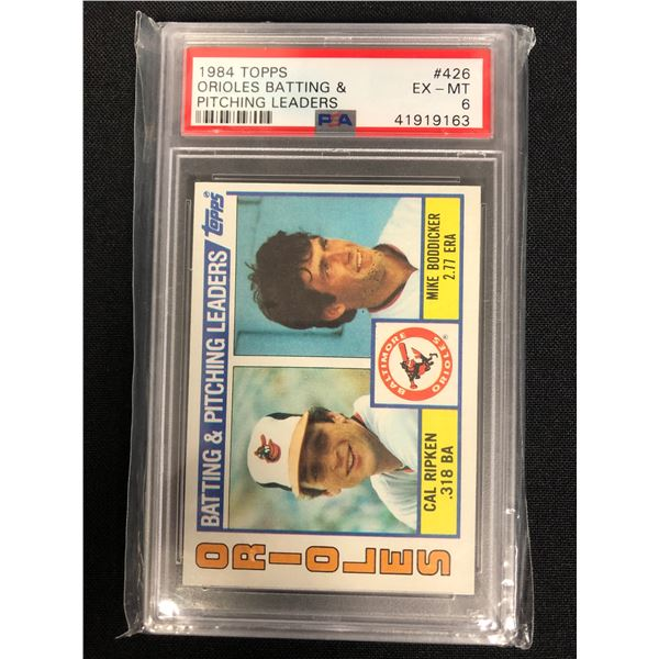 1984 TOPPS #426 ORIOLES BATTING & PITCHING LEADERS (EX-MT 6)