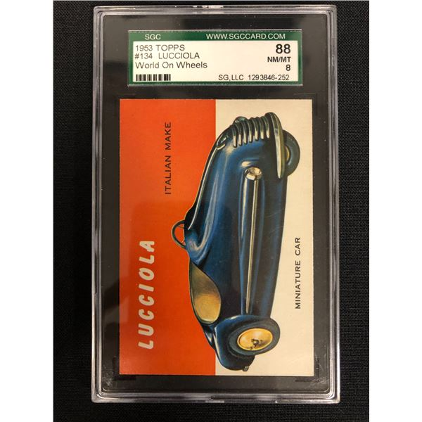 1953 TOPPS #134 LUCCIOLA World on Wheels (NM-MT 8)