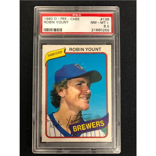 1980 O-PEE-CHEE #139 ROBIN YOUNT (NM-MT+ 8.5)