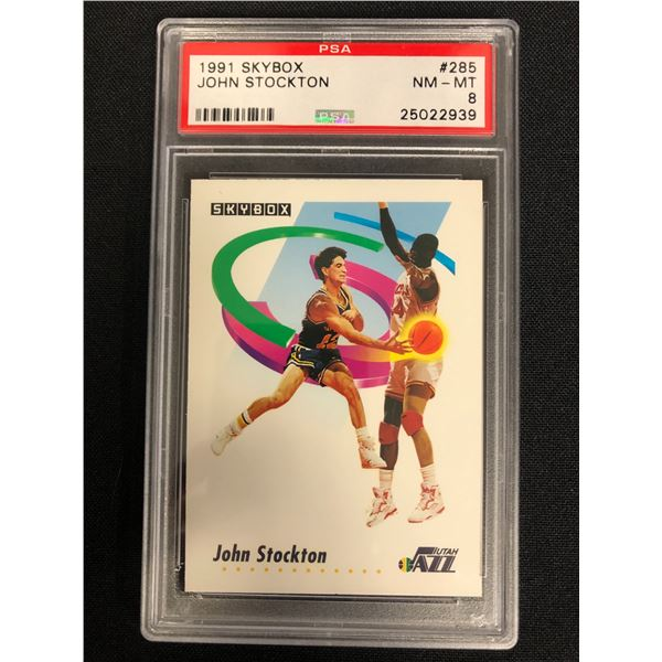 1991 SKYBOX #285 JOHN STOCKTON (NM-MT 8)