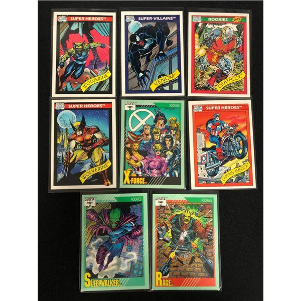 MARVEL COMICS TRADING CARDS LOT