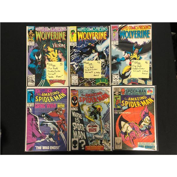 MARVEL COMICS PRESENTS WOLVERINE/ THE AMAZING SPIDER-MAN  BOOK LOT