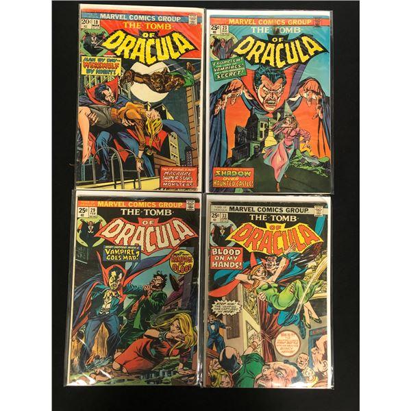 THE TOMB OF DRACULA COMIC BOOK LOT (MARVEL COMICS)