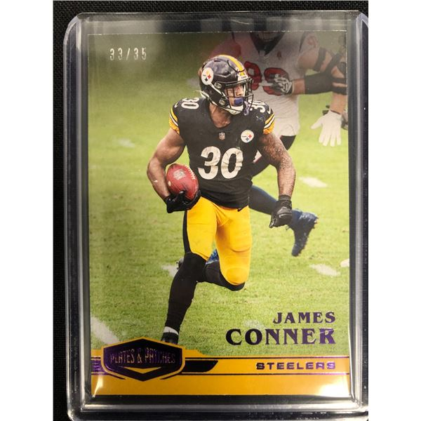 2020 PANINI PLATES & PATCHES FOOTBALL #76 JAMES CONNER