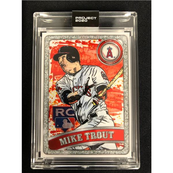 MMXX PROJECT 2020 MIKE TROUT #100 (ORIGINAL CARD 2011 TOPPS UPDATE BASEBALL #US175)