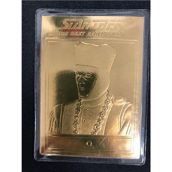 STAR TREK The Next Generation Gold Trading Card Featuring Q 2002