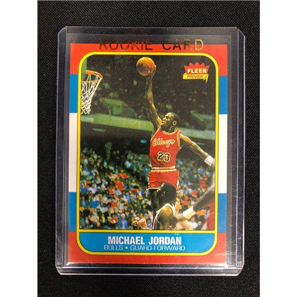1986 Fleer Michael Jordan #57 Reprint RC