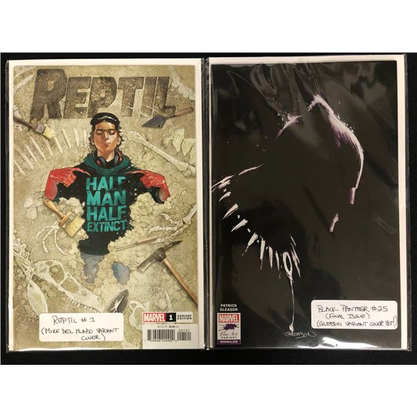 MARVEL VARIANT COVERS COMIC BOOK LOT (REPTIL #1/ BLACK PANTHER #25)