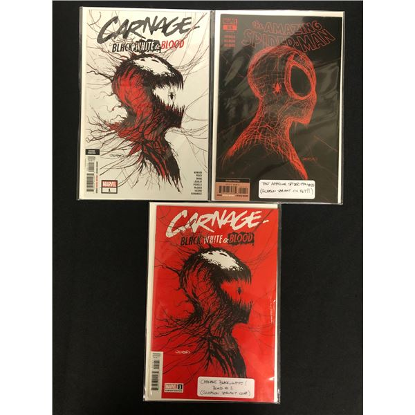 THE AMAZING SPIDER-MAN #55/ CARNAGE - Black, White & Blood #1 (x2) MARVEL COMICS