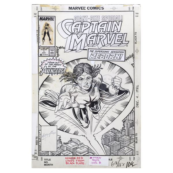 Lot # 49: CAPTAIN MARVEL (COMIC BOOK, 1989) - Captain Marvel No. 1 Cover Featuring Monica Rambeau by