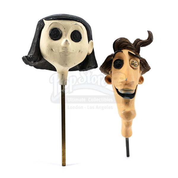Lot # 58: CORALINE (2009) - Other Mother (Teri Hatcher) and Other Father (John Hodgman) Prototype Pu