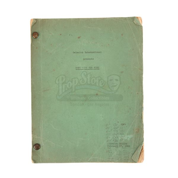 Lot # 91: GONE WITH THE WIND (1939) - Production-Used Script
