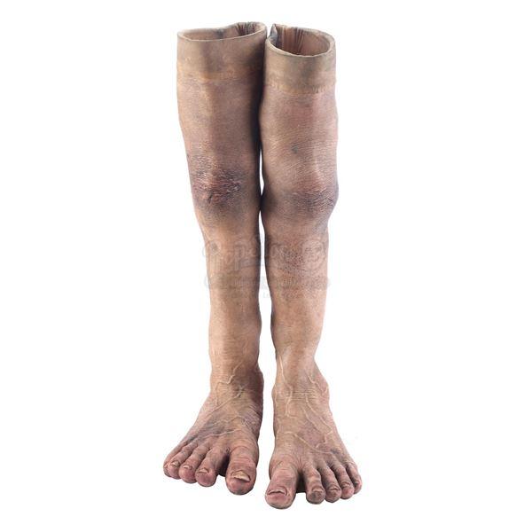 Lot # 113: THE HOBBIT: AN UNEXPECTED JOURNEY (2012) - Bilbo Baggins Stunt Feet Appliances