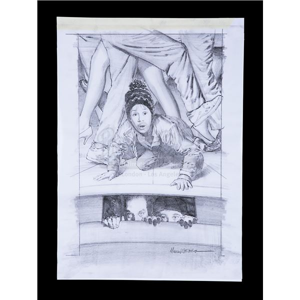 Lot # 115: HOME ALONE 2: LOST IN NEW YORK (1992) - Poster Concept Pencil Drawing