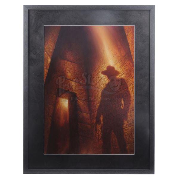 "Lot # 125: INDIANA JONES SERIES (1981 - 2008) - Hand-Painted Leo Leibelman ""Indiana Jones and the Ad"