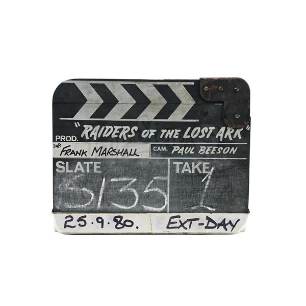 Lot # 126: RAIDERS OF THE LOST ARK (1981) - Production-Used Clapperboard