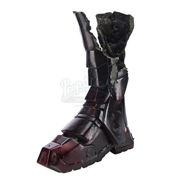 Lot # 137: IRON MAN 3 (2013) - Iron Man's (Robert Downey Jr.) Damaged Mark XVI Armored Boot