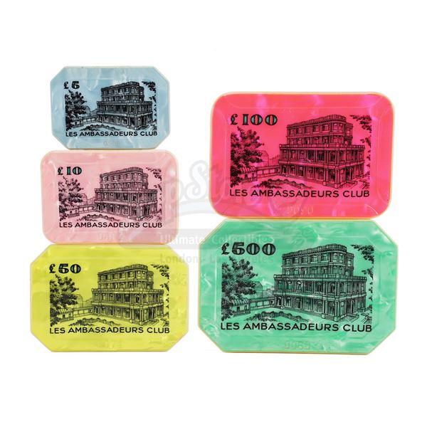 Lot # 138: DR. NO (1962) - Set of Five Le Cercle Casino Plaques