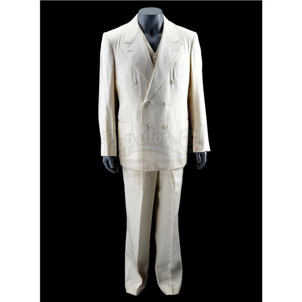 """Lot # 147: JOHNNY DANGEROUSLY (1984) - Johnny """"Dangerously"""" Kelly's (Michael Keaton) Pinstripe Suit"""