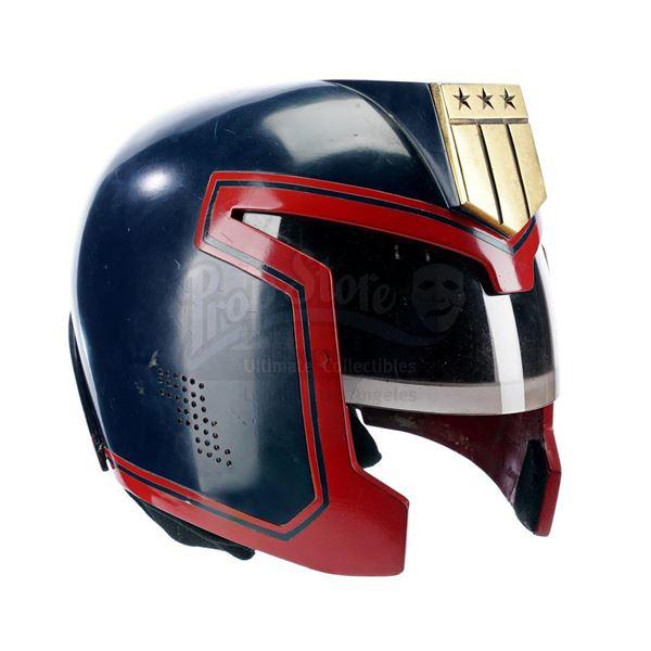 Lot # 148: JUDGE DREDD (1995) - Judge Joseph Dredd's (Sylvester Stallone) Helmet