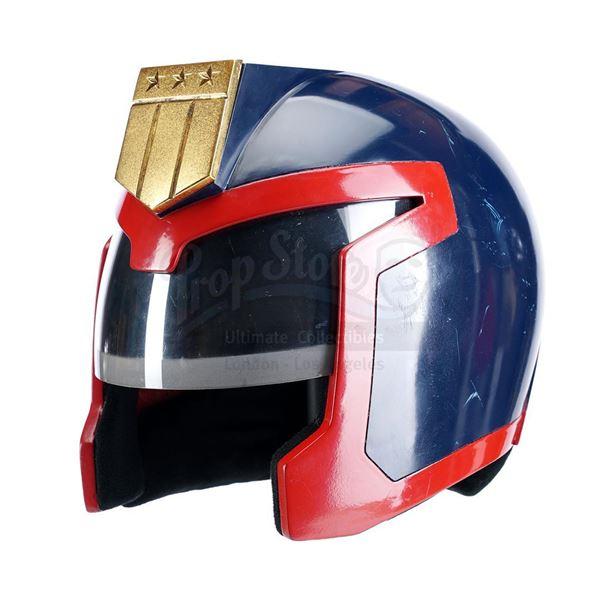 Lot # 149: JUDGE DREDD (1995) - Judge Hershey's (Diane Lane) Stunt Helmet