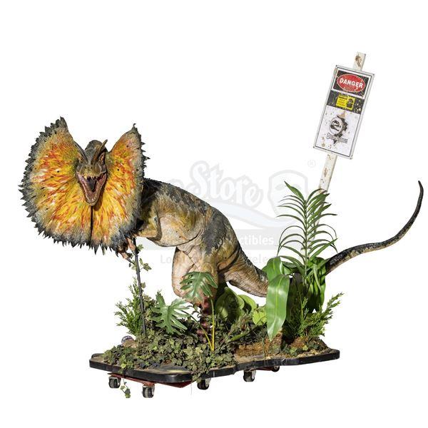 Lot # 155: JURASSIC PARK (1993) - Stan Winston-Made Life-Sized Dilophosaurus Display