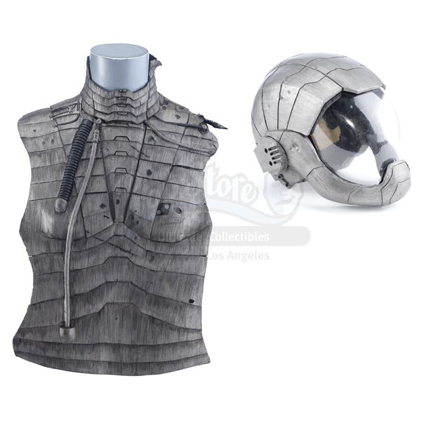 Lot # 170: LOST IN SPACE (1998) - Major Don West's (Matt LeBlanc) Battle-Damaged Cryo-Suit Top and H