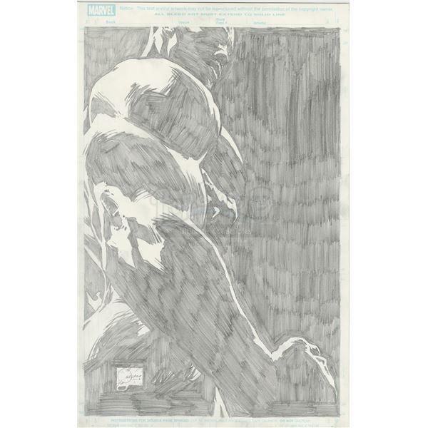 Lot # 176: MARVEL'S LUKE CAGE (T.V. SERIES, 2016 - 2018) - Hand-Drawn Joe Quesada Poster Illustratio