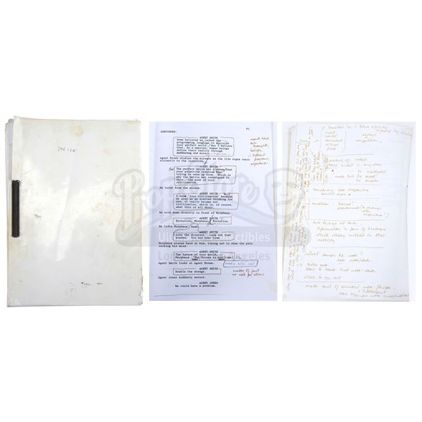 Lot # 179: THE MATRIX (1999) - Hugo Weaving's Production Script
