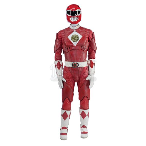 Lot # 184: MIGHTY MORPHIN' POWER RANGERS: THE MOVIE (1995) - Red Ranger (Steve Cardenas) Costume wit