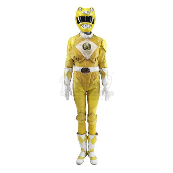 Lot # 185: MIGHTY MORPHIN' POWER RANGERS: THE MOVIE (1995) - Yellow Ranger (Karan Ashley) Costume wi