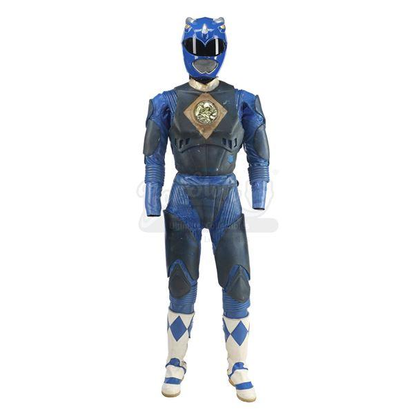 Lot # 186: MIGHTY MORPHIN' POWER RANGERS: THE MOVIE (1995) - Blue Ranger (David Yost) Costume