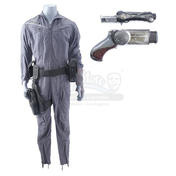 Lot # 191: MINORITY REPORT (2002) - Precrime Officer's (Richard Coca) Jumpsuit, Holster, and Accesso