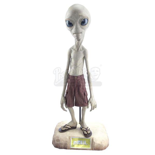 Lot # 205: PAUL (2011) - Full-Size Paul (Seth Rogen) Puppet Display