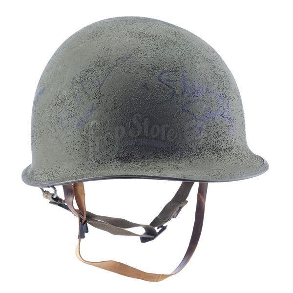 Lot # 224: SAVING PRIVATE RYAN (1998) - U.S. Soldier Helmet Signed by Steven Spielberg, Tom Hanks an
