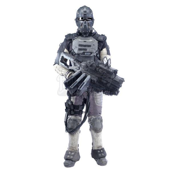 Lot # 232: SPECTRAL (2016) - Sergeant Chen's (Louis Ozawa) Stunt DARPA Armor with Plasma Rifle