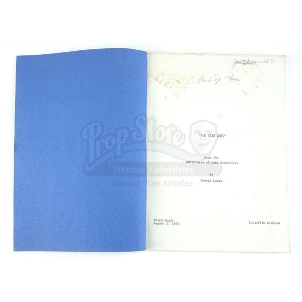 Lot # 274: STAR WARS - EP IV - A NEW HOPE (1977) - James Nelson's Third Draft Script