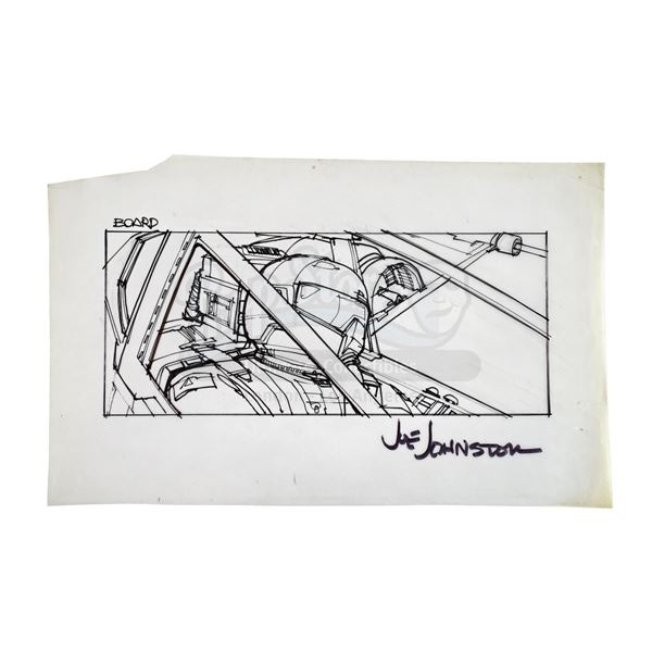 Lot # 279: STAR WARS - EP IV - A NEW HOPE (1977) - Hand-Drawn Joe Johnston X-Wing Pilot Storyboard